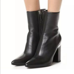 Alexander Wang Kirby Black Leather Ankle Booties
